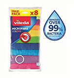 Vileda Microfaser Allzwecktücher Colors Multipack Microfaser, Mehrfarbig, 8er Pack