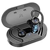 Axloie Bluetooth Kopfhörer In Ear Sport IPX7 Wasserdicht Sport Kopfhörer kabellose In Ear 25 Stunden Spielzeit HiFi Kopfhörer Sport Joggen mit Ladebox und Mikrofon für Laufen Training