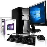 Komplett PC Intel i5 Allround/Multimedia Computer mit 3 Jahren Garantie! | Intel Core i5® 4430 Quad Core, 3.2 GHz | 8GB | 128GB SSD | 500GB | 6xUSB | Win10 Pro | 24' Full-HD | Tastatur+Maus #6576