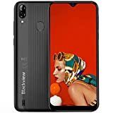 Blackview A60 Pro Dual-SIM 4G Smartphone ohne Vertrag Günstig - 6,1 Zoll HD Display 3GB RAM + 16GB ROM, 256GB erweiterbar, 4080mAh Akku 8MP+5MP Dual Kamera Android 9.0 Handy - GPS/Face ID