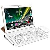 Tablet Android 10.0 - TOSCIDO Tablets 10 Zoll 4 GB/RAM,64 GB/ROM Tablet PC Octa Core,Dual SIM,WiFi Unterstützung Bluetooth Tastatur |Maus| Tablet Cover und Mehr Enthalten - Gold