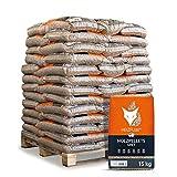 HEIZFUXX Holzpellets Grey Heizpellets Nadelholz Wood Pellet Öko Energie Heizung Kessel Sackware 6mm 15kg x 65 Sack 975kg / 1 Palette Paligo