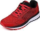 WHITIN Unisex Sportschuhe Damen Herren Turnschuhe Laufschuhe Sneakers Männer Walkingschuhe Modisch Bequem Joggingschuhe Fitness Schuhe Rot Größe 42