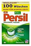 Persil universalpulverrengöringsmedel (100 tvättmängder), kraftigt tvättmedel med Deep Clean Plus-teknik bekämpar envisa fläckar för strålande renhet