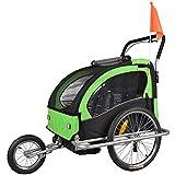 Tiggo Kinderfahrradanhänger Fahrradanhänger Jogger 2in1 Anhänger Kinderanhänger JBT03A-D02 grün