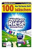 Vit jätte universalpulver (100 tvättmängder), kraftigt rengöringsmedel extra starkt mot fläckar, ekonomiskt tvättpulver, perfekt för familjer med barn