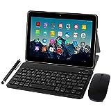 Tablet 10 Zoll 4G LTE - TOSCiDO M863 Tablets Android 10.0,Tablet PC 4 GB/RAM,64 GB/ROM ,Otca Core,Dual SIM,WiFi, Tastatur  Wireless Maus M863 Tablet Cover und Mehr Enthalten - Grau