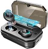 Bluetooth Kopfhörer in Ear Racokky Kopfhörer Kabellos mit 120 Stunden Spielzeit Bluetooth-Ohrhörer, Echte Bluetooth 5.0 TWS Kabellose Ohrhörer mit 3000mAh LCD Ladetasche und Mikrofon, IPX7 Wasserdicht