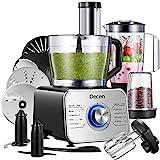 Küchenmaschine Multifunktional 1100W, 3 Geschwindigkeiten, Elektrischer Zerkleinerer, Standmixer, Zitrusspresse, Kaffeemühle, 3.5L Rührschüssel(Innerhalb von 5 Tagen Erhalten)