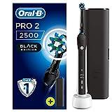 Oral-B PRO 2 2500 Black Edition Elektrische Zahnbürste/Electric Toothbrush mit visueller Andruckkontrolle für extra Zahnfleischschutz, 2 Putzprogramme inkl. Sensitiv, Timer & Reiseetui, schwarz