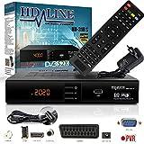 HD-LINE HDMI Receiver Satellit HD Digitaler Satelliten Receiver HDMI DVB S2 Receiver für Sat HD HDMI Sat Receiver HDMI HD Receiver Sat Digital für Satelliten Resiver für TV DVB-S, Mit PVR Schwarz