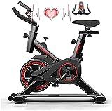 Divgdovg Heimtrainer-Fahrräder Heimtrainer Heimtrainer für verstellbare Lenker und sitzverchromtes Schwungrad 6 kg mit LCD-Display Messwert liest Geschwindigkeit, Entfernung, Zeit, Kalorien