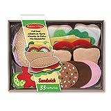 Melissa & Doug 13954 Sandwich-SpielsetausFilz, Mehrfarben