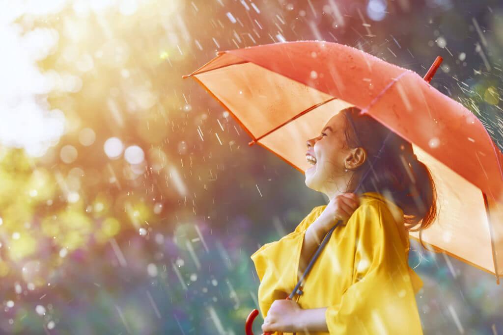 Regenschirm-Regenbekleidung